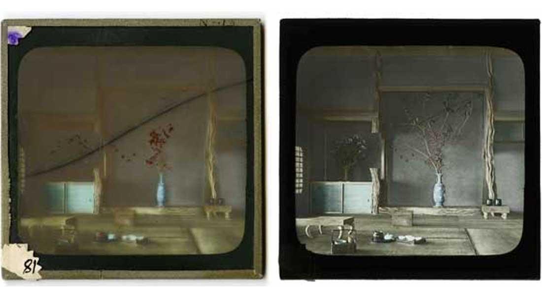 James W. Davidson glass lantern slides