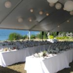 Host an outdoor wedding party